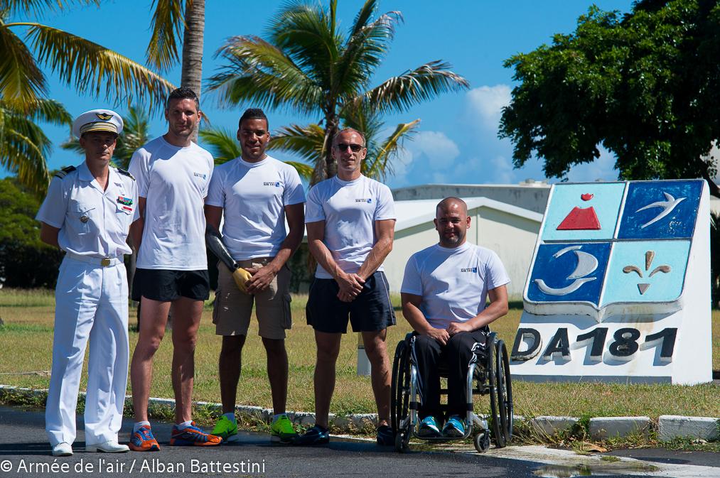 Athlètes de l'équipe de France handisport au DA181