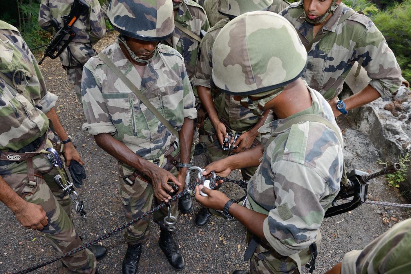 Les Forces Spéciales mauriciennes en stage commando