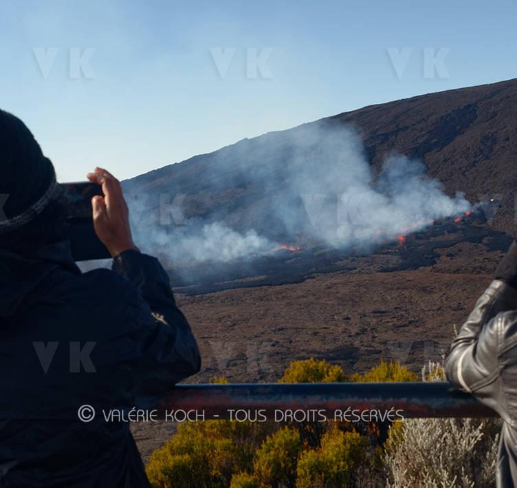 L'éruption devant le Pas-de-Bellecombe © Valérie Koch - Tous droits réservés