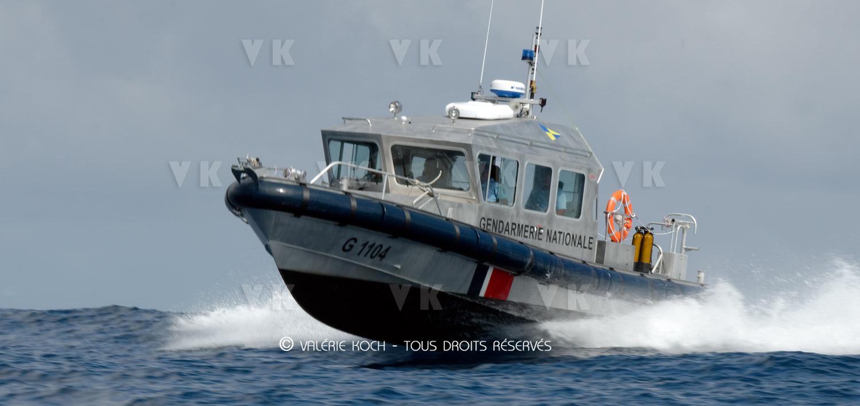 Escorte en mer de probables migrants sri-lankais © Valérie Koch - Tous droits réservés