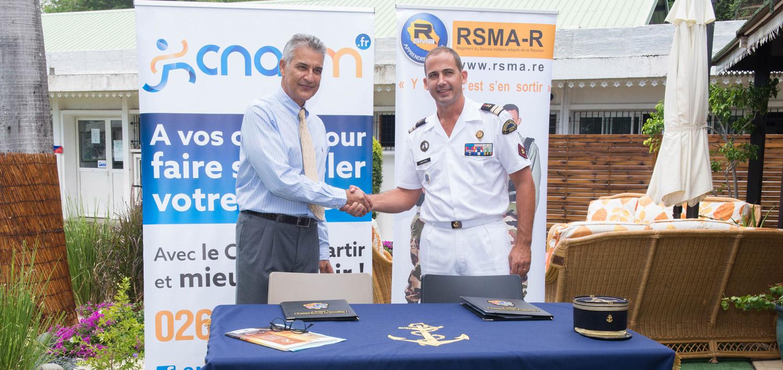 RSMA-R et CNARM renouvellent leur partenariat © CAV RSMA-R