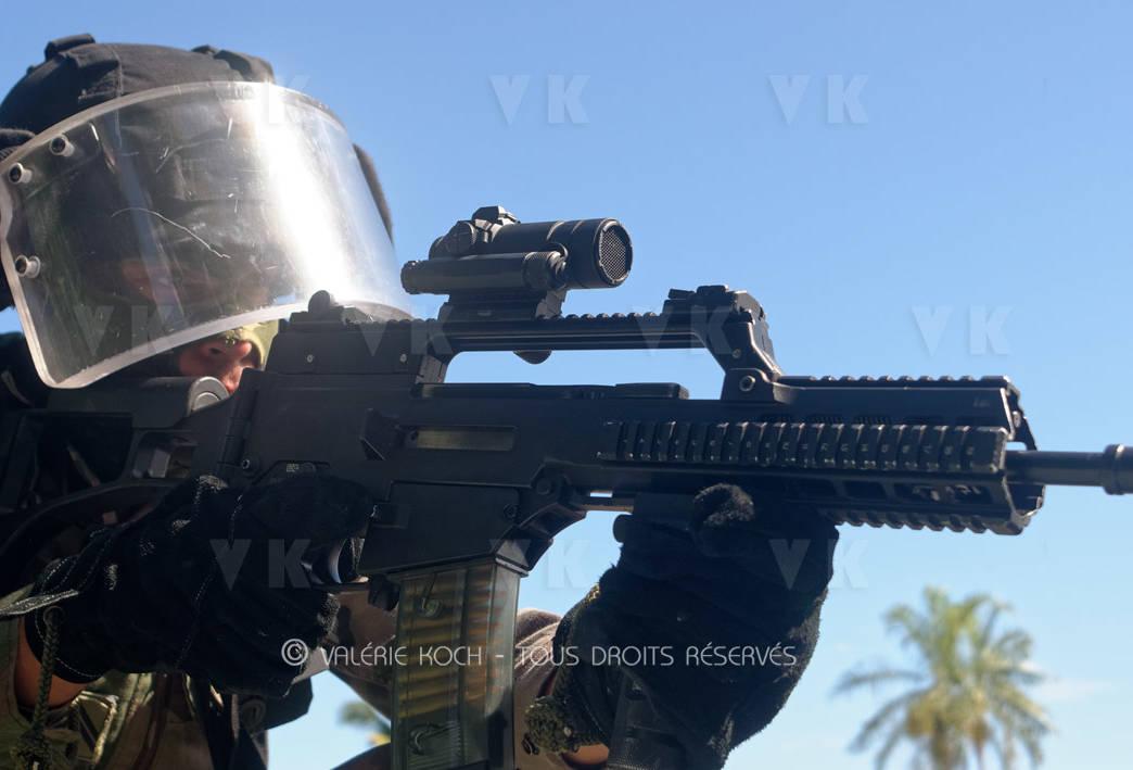 La gendarmerie malgache en mission au COMGENDRE (II) © Valérie Koch - Tous droits réservés