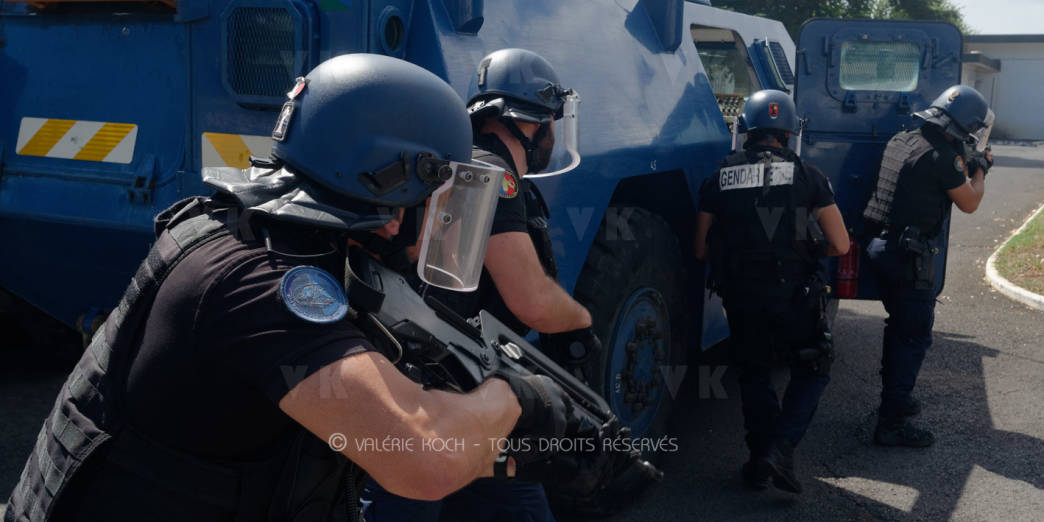 La gendarmerie malgache en mission au COMGENDRE (I) © Valérie Koch - Tous droits réservés