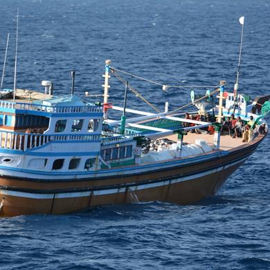 4 jours, 4 boutres, 3 saisies, Pirates somaliens présumés devant la justice seychelloise © Marine Nationale