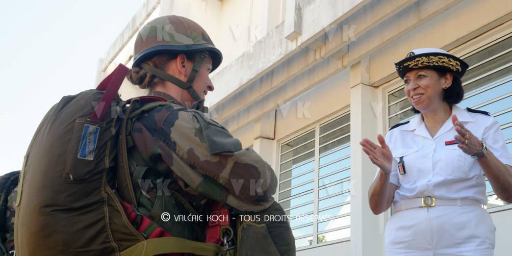 La directrice centrale du SSA au 2e RPIMa © Valérie Koch - Tous droits réservés