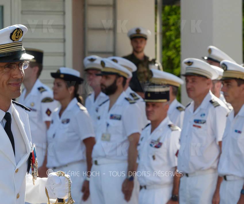 Le CV Arnaud Paquet à la tête de la Base navale © Valérie Koch - Tous droits réservés