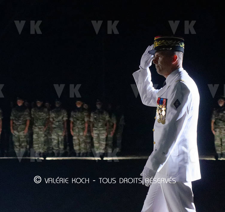 Le général Métayer, nouveau COMSUP © Valérie Koch - Tous droits réservés