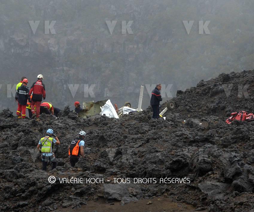 Un CESSNA se crashe au volcan © Valérie Koch - Tous droits réservés
