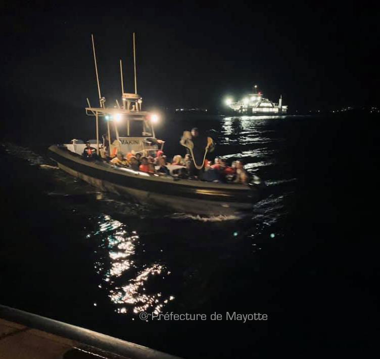 12 kwassa et 165 migrants interceptés à Mayotte © Préfecture de Mayotte