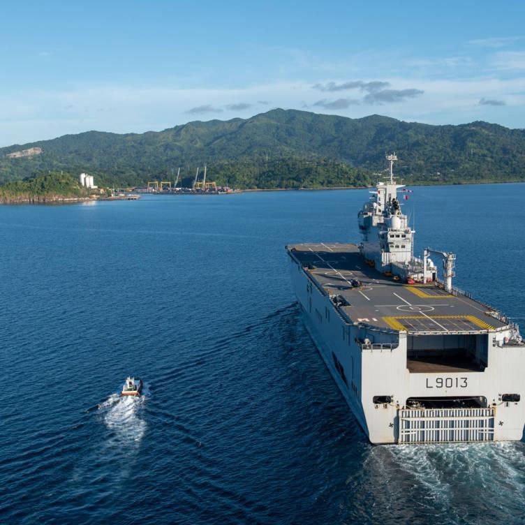 Résilience : le fret est arrivé à Mayotte © Yoann Letourneau/Marine Nationale/Défense