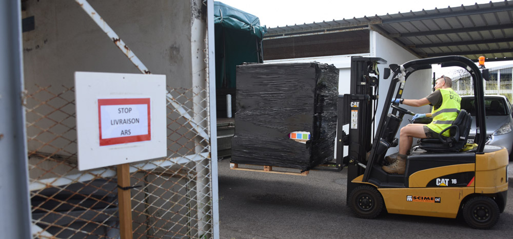 Les FAZSOI transportent 198 000 masques © ADJ Audrey / FAZSOI
