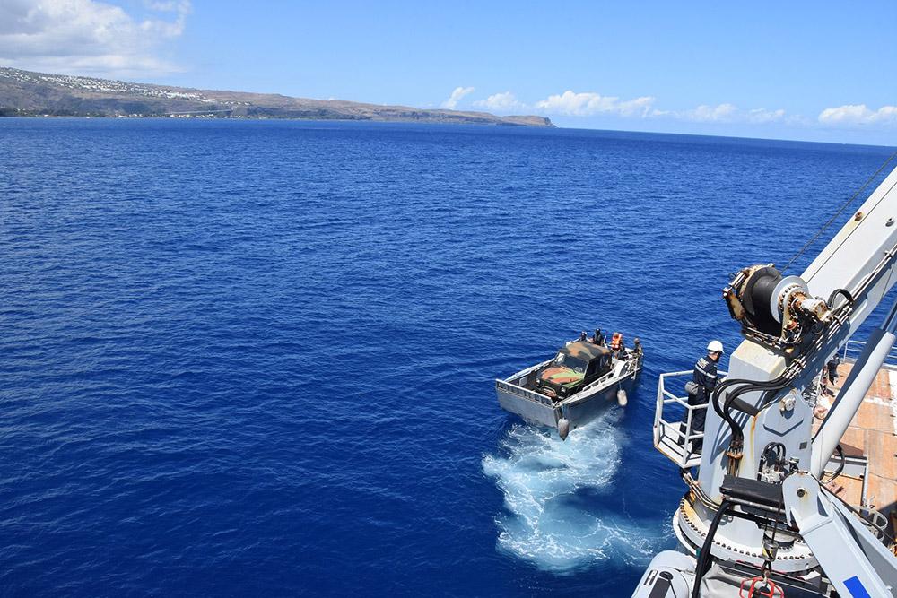Entraînement à l'assistance humanitaire © Marine Nationale
