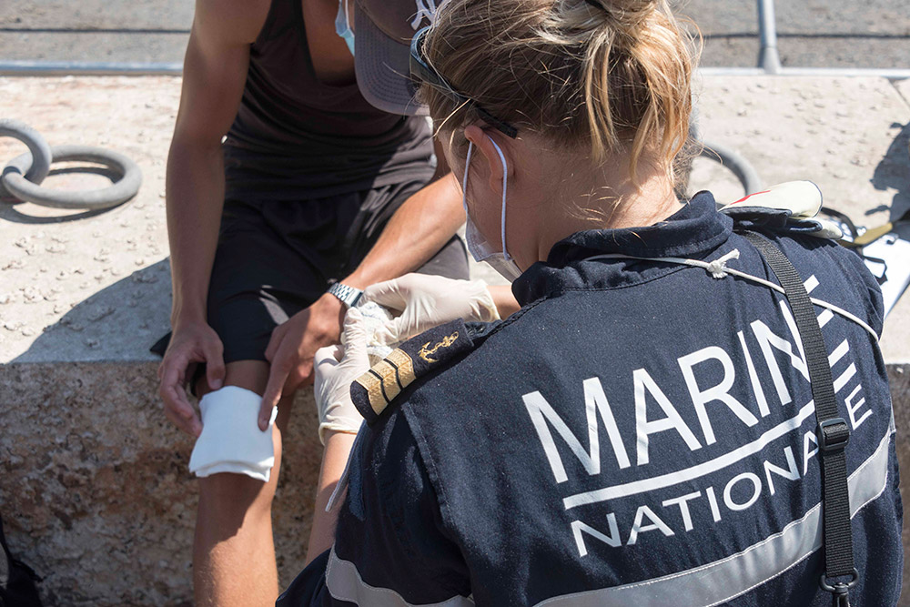 Entraînement à l'assistance humanitaire © ADJ Gwendoline / FAZSOI