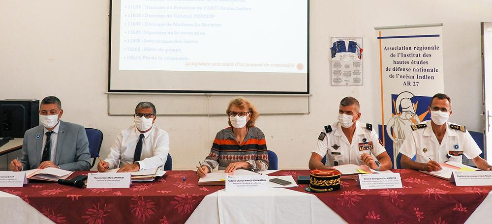 Classe défense au lycée Jean Hinglo © FAZSOI
