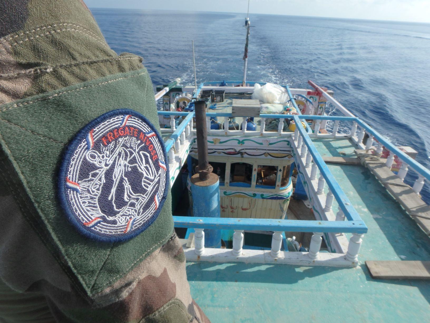 300 kg d'héroïne pour boucler la mission © Marine nationale / FS Nivôse