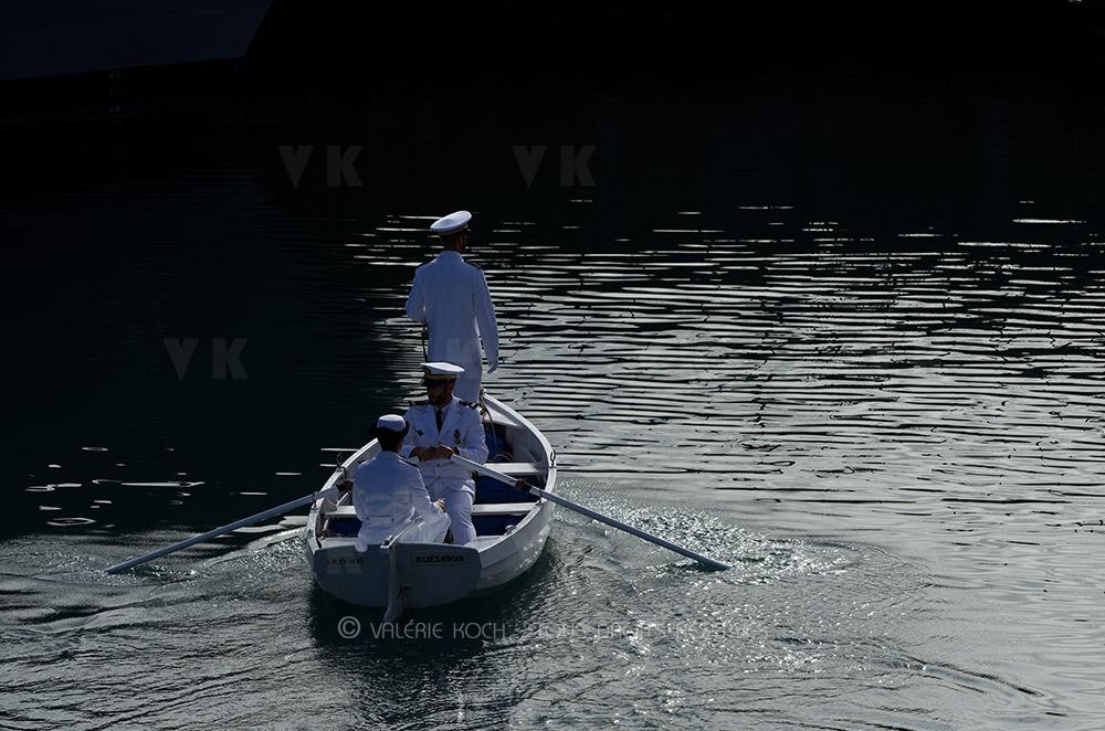 Le LV Lainé à la tête de l'équipage B du Champlain © Valérie Koch - Tous droits réservés